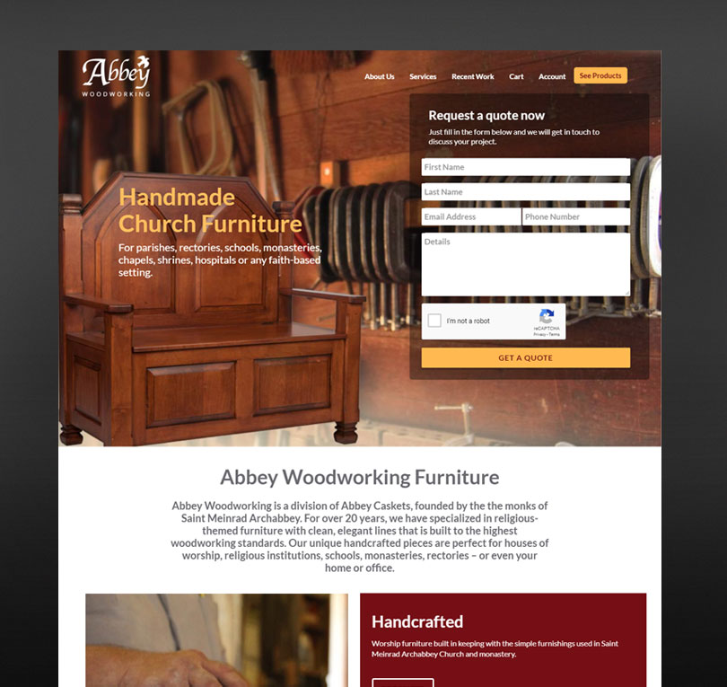 Abbey Woodworking Website